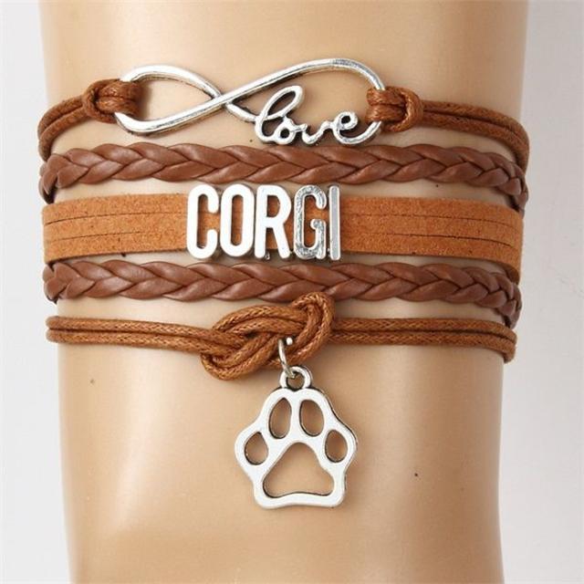 コーギー  コーギーチャームブレスレット♪ ブラウン♪ 新品未使用品 送料無料 その他のペット用品(犬)の商品写真