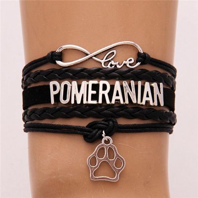ポメラニアン チャームブレスレット♪ ブラック♪ 新品未使用品 送料無料 その他のペット用品(犬)の商品写真