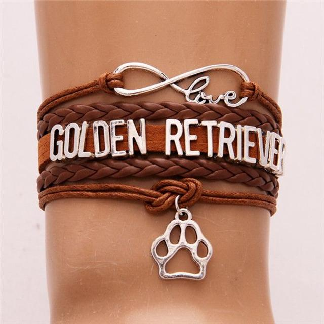 ゴールデンレトリバー チャームブレスレット♪ ブラウン♪ 新品未使用品 送料無料 その他のペット用品(犬)の商品写真