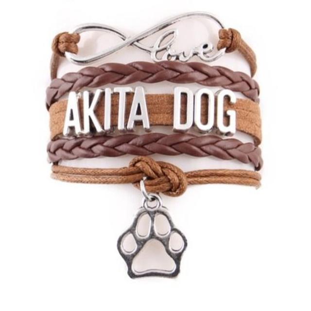 秋田犬 秋田犬チャームブレスレット♪ ブラウン♪ 新品未使用品 送料無料 その他のペット用品(犬)の商品写真