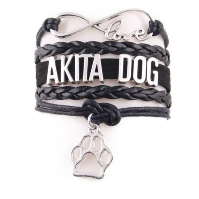 秋田犬 秋田犬チャームブレスレット♪ ブラック♪ 新品未使用品 送料無料 その他のペット用品(犬)の商品写真