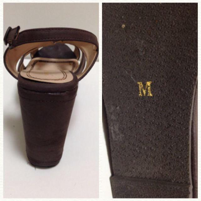 ウェッジソールサンダル ブラウン レディースの靴/シューズ(サンダル)の商品写真