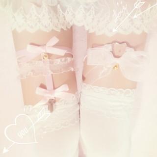 baby pink*swan♡ガーター(レッグウォーマー)