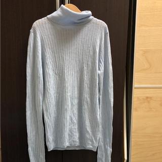 アクアガール(aquagirl)のアクアガール 水色 ウール 薄手 ニット(ニット/セーター)