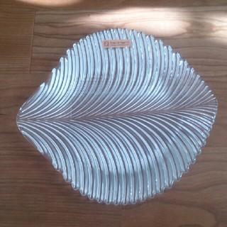 ナハトマン(Nachtmann)のNachtmann☆リーフ型ガラスプレート☆葉型皿(食器)