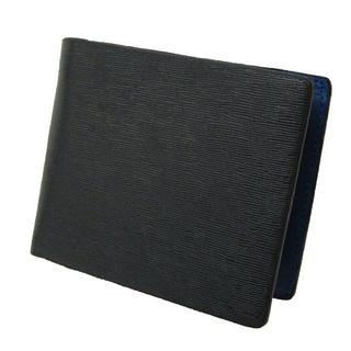 ★大幅値下げ★ Maturi 牛革 二つ折り財布 MR-053 黒×青(折り財布)