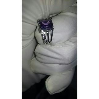 希少パープルダイヤモンドリング 11号(リング(指輪))