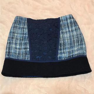 マーキュリーデュオ(MERCURYDUO)のマーキュリーデュオ  ツイード  スカート  ミニスカート(ミニスカート)