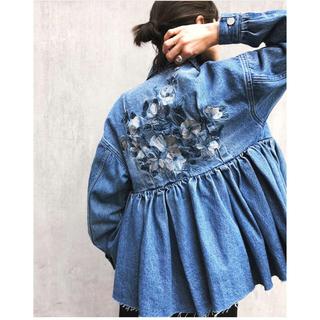 ステュディオス(STUDIOUS)のCLANE 2018SS 今季完売 刺繍パニエデニムジャケット(Gジャン/デニムジャケット)