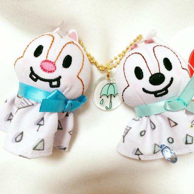 Disney(ディズニー)のチップとデール キーホルダー てるてる坊主 エンタメ/ホビーのおもちゃ