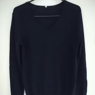 ムジルシリョウヒン(MUJI (無印良品))の無印良品☆シルク混ウールVネックセーター/M(ニット/セーター)