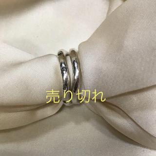 アガット(agete)の三連休限定お値下げ⭐︎ agete シルバーダイヤ  リング 2本セット(リング(指輪))