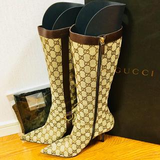 グッチ(Gucci)のゆきんこ様専用 GUCCI GG柄 ブーツ 純正替えカカト付き 数回使用のみ(ブーツ)