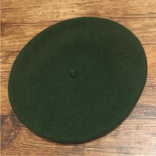 マーガレットハウエル(MARGARET HOWELL)の専用 lingomama 様 MHL ベレー帽 ダークグリーン オリーブ(ハンチング/ベレー帽)