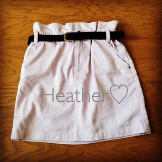 ヘザー(heather)のヘザー/ハイウエストデニムスカート(ミニスカート)