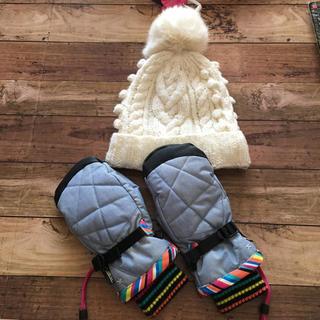エスティボのスノボーグローブ美品とニット帽セット(ウエア/装備)