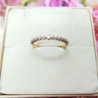 アガット(agete)のagete K10 ダイヤモンドハーフエタニティリング(リング(指輪))