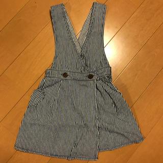 ブリーズ(BREEZE)の子供服 サロペット デニム ストライプ(スカート)