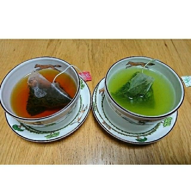 3プリン(4個入)・玉緑茶、和紅茶セット【送料無料】 食品/飲料/酒の飲料(茶)の商品写真