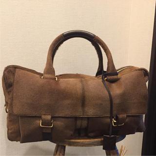 イヴサンローランボーテ(Yves Saint Laurent Beaute)のイヴサンローラン 美品茶色 ブラウンボストンバッグ 鞄 ユニセックス レア 人気(ボストンバッグ)