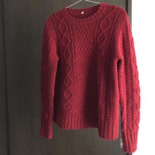ムジルシリョウヒン(MUJI (無印良品))の無印良品◆レッドケーブル柄セーター(ニット/セーター)