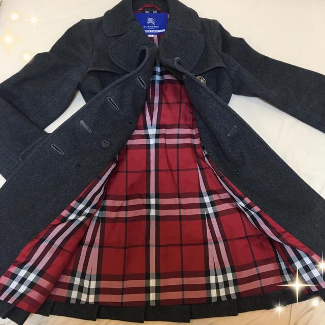 BURBERRY(バーバリー)の大人気 ☆バーバリー ブルーレーベル コート ロングコート ウール レディースのジャケット/アウター(ロングコート)の商品写真