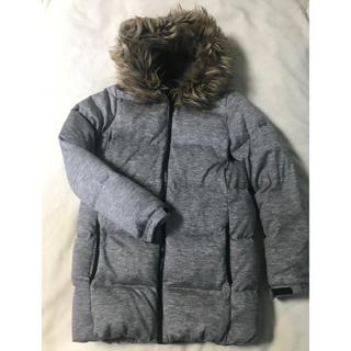 ギャップ(GAP)のGAP ダウン コート ジャケット XS グレー ウール 極暖 モコモコ(ダウンコート)