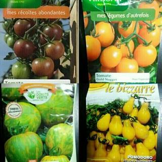 2~3月蒔き イタリア野菜の種子など。カラフルなトマトの種 4種類10粒ずつ(野菜)