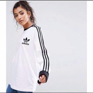 アディダス(adidas)のアディダスオリジナルス カリフォルニア Tee 長袖Tシャツ M 白 新品未使用(Tシャツ/カットソー(七分/長袖))