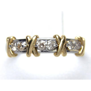 プラチナ K18 コンビ ダイヤモンド リング(リング(指輪))