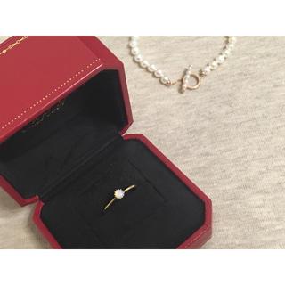 美品 K10 オパールリング 指輪 アンティーク風(リング(指輪))