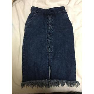 マウジー(moussy)のマウジーデニムスカート 売り切りセール(ひざ丈スカート)