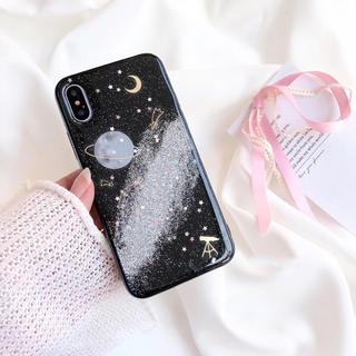 グリッタープラネットケース★iphone8 iphonex★その他機種有り(iPhoneケース)