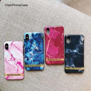 大人可愛い大理石風ケース★iphone8 iphonex★その他機種有り(iPhoneケース)