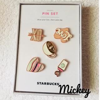 スターバックスコーヒー(Starbucks Coffee)の台湾 スターバックス バレンタイン限定 ピンバッジセット(バッジ/ピンバッジ)