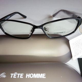 テットオム(TETE HOMME)のかずかず様専用 Black on TETE HOMME 細フレーム型 クリアレン(サングラス/メガネ)