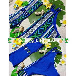 【送料無料】L size ビキニ 青 2 Way ブルー 水着 (水着)
