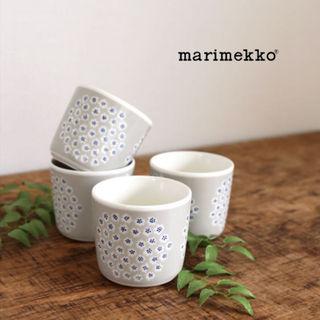 マリメッコ(marimekko)の新品☆marimekko ラテマグ プケッティ グレー(グラス/カップ)