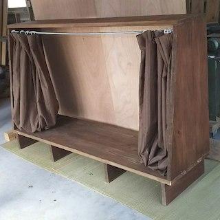引きこもれる ソファベット 木製 ウォールナット(その他)