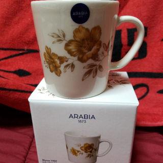 アラビア(ARABIA)のsamiyu様専用  マグカップ 黄色の花柄(グラス/カップ)
