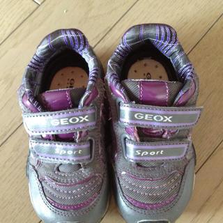 キッズGeoxフランス製光るスニーカー キッズ/ベビー/マタニティのキッズ靴/シューズ