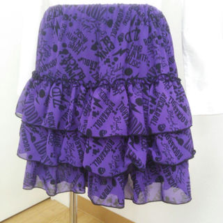 ジディー(ZIDDY)のZIDDY (ベベ) ティアードスカート   新品タグ付き  160  パープル(スカート)