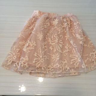 ローリーズファーム(LOWRYS FARM)のピンク レーススカート(ミニスカート)