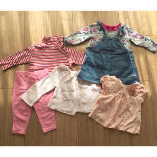 コムサイズム(COMME CA ISM)の6枚セット ベビー服 ワンピース トップス ズボン 6M〜18M 子供服まとめ売(カバーオール)
