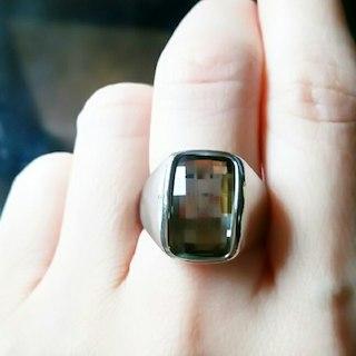 ブラウン・キラキラ✨リング/フリーサイズ(リング(指輪))