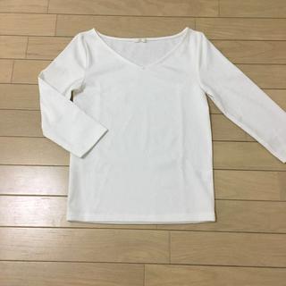 ジーユー(GU)の【ラクマ ミナ様専用❗️】GU レディース☆7分袖 VネックTシャツ(Tシャツ(長袖/七分))