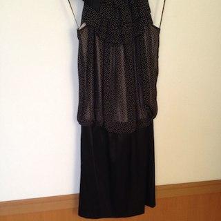 アクアガール(aquagirl)のアクアガール パーティドレス 結婚式 大人可愛い ドット 黒 美品 ワンピ(その他ドレス)