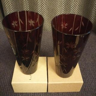 トウヨウササキガラス(東洋佐々木ガラス)のキリコペア(二個セット)【新品未使用】(グラス/カップ)