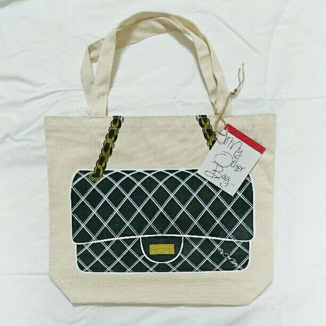 my other bag(マイアザーバッグ)の値下げ!新品◆My Other Bag ジャッキー ブラック トートバッグ レディースのバッグ(トートバッグ)の商品写真