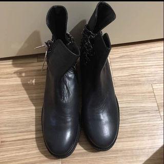 ザラ(ZARA)の週末特別SALE‼️ZARA  25.5cm ダークブルー ブーツ【新品】(ブーツ)